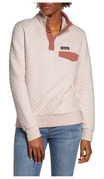 Patagonia snap-t quilted pullover in dyno white