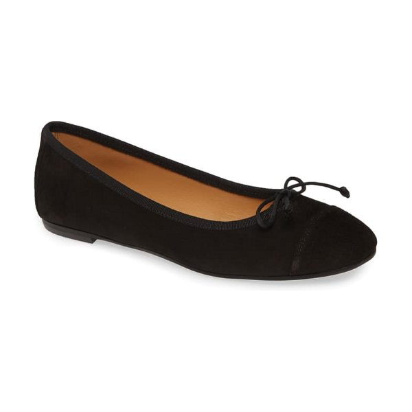 patricia green gia skimmer flat in black suede