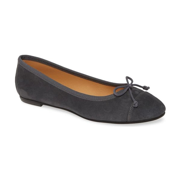 patricia green gia skimmer flat in grey suede