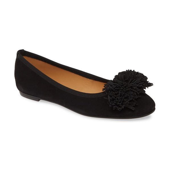 patricia green kerry skimmer flat in black suede