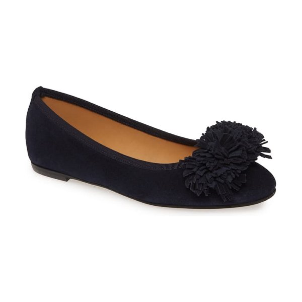 patricia green kerry skimmer flat in navy suede