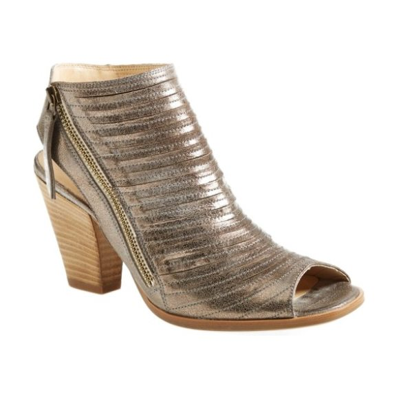 Paul Green 'cayanne' leather peep toe sandal in smoke leather
