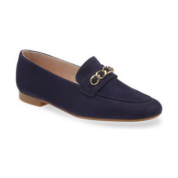 Paul Green char loafer in royal nubuck sapphire