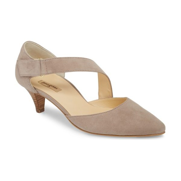 Paul Green nicki asymmetrical pump in rosewood suede