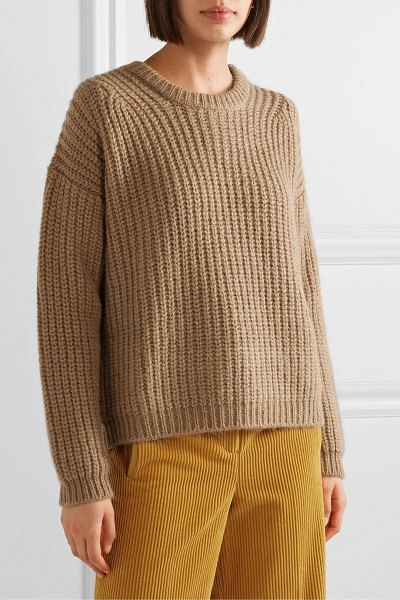 Paul & Joe malicieux ribbed-knit sweater in camel