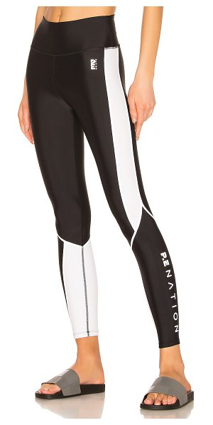 P.E NATION Air Time Legging in black - Main & Contrast: 75% poly 25% elastane. Stretch fabric...