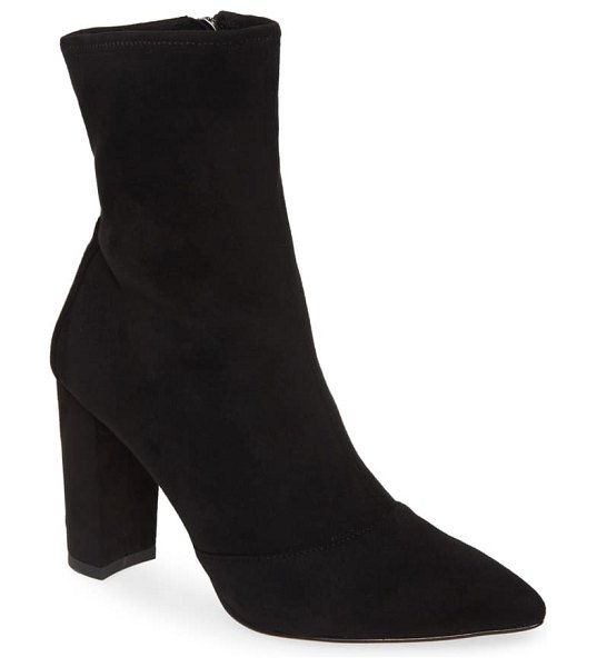 Pelle Moda edie pointed toe boot in black fabric
