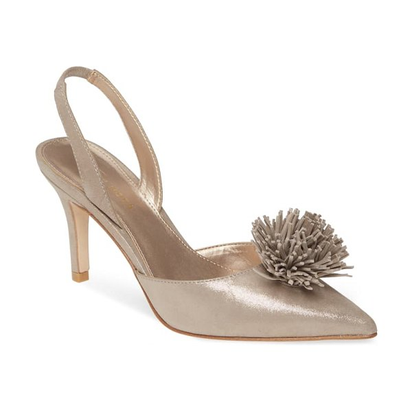Pelle Moda ima pointed toe slingback pump in dark taupe suede