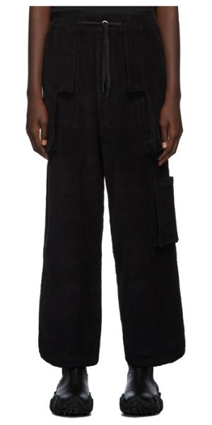 Perks And Mini black b.t.c return corduroy trousers in blck black
