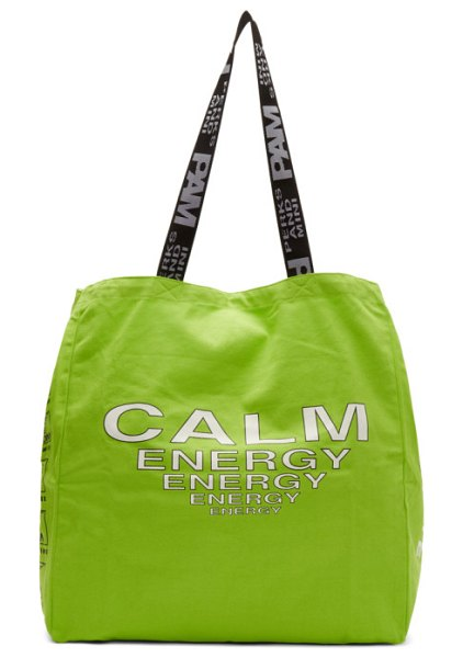 Perks And Mini green disc man tote in flur fluro