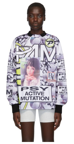 Perks And Mini multicolor as waterfalls sublimation long sleeve t-shirt in pieo pigeon