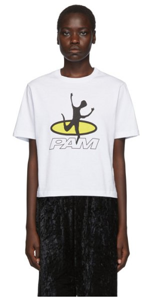 Perks And Mini white disc man t-shirt in opwh optic