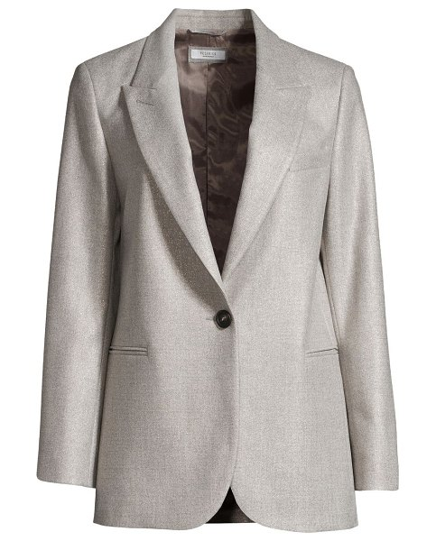 Peserico sparkle single breasted jacket in grey