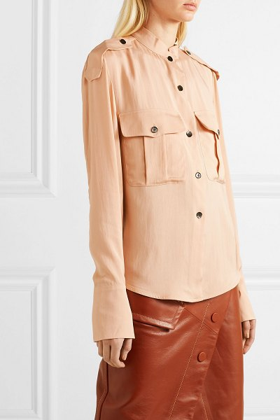 Petar Petrov crepe de chine blouse in beige - If you're looking to expand your collection of neutrals...