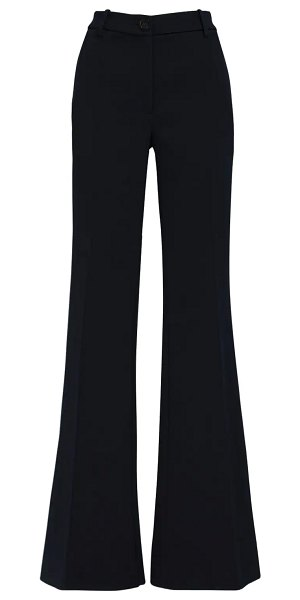 Peter Do Flared high waist wool pants in navy
