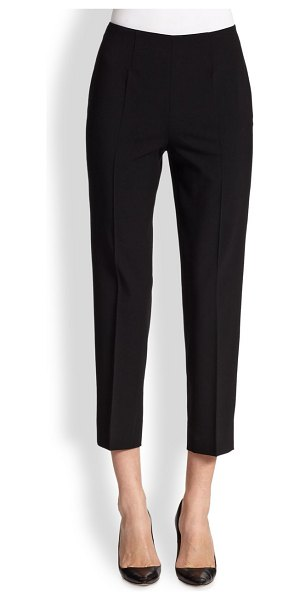Piazza Sempione audrey stretch wool pants in black