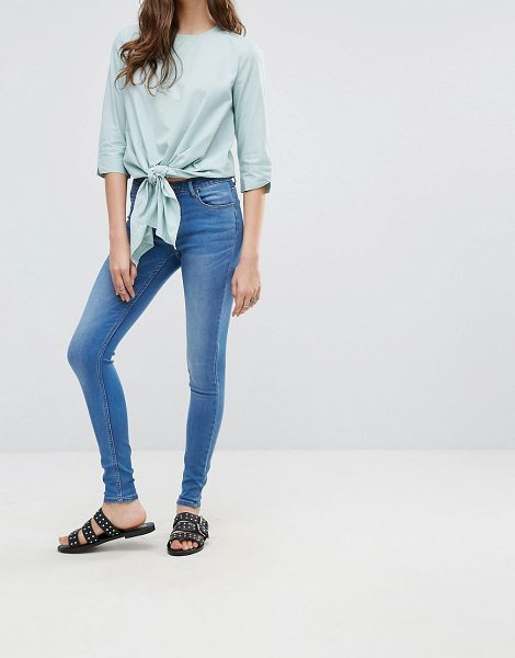 """PIECES Five Betty Skintight Jeans - """"""""Jeans by Pieces, Stretch denim, Light wash, Concealed..."""