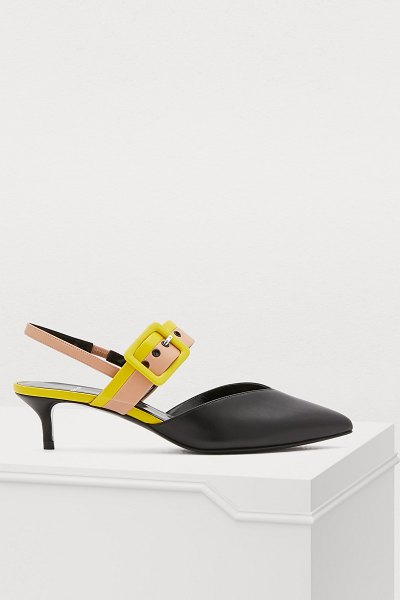 Pierre Hardy Alpha heeled slingbacks in calf-lamb multi black