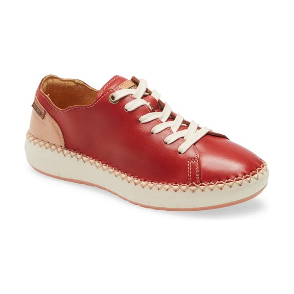 PIKOLINOS mesina low top sneaker in coral leather