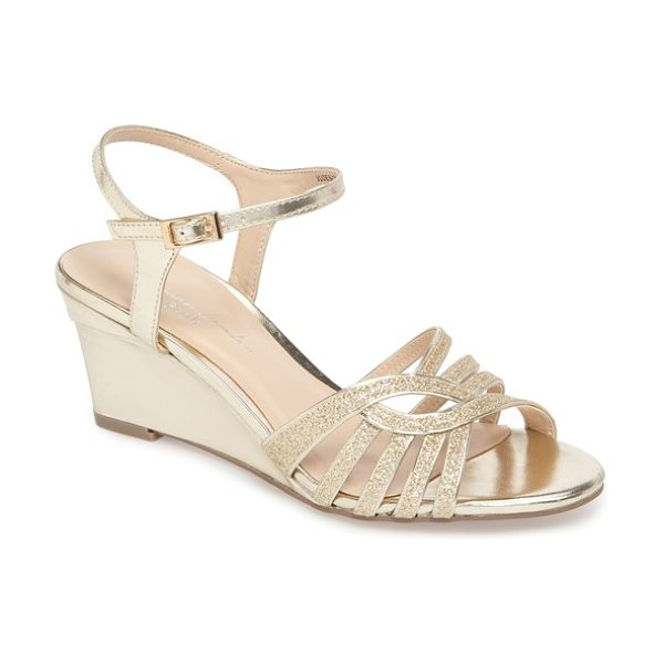PARADOX LONDON PINK karianne wedge sandal in gold - A sleek wedge adds just-right height to a strappy party...