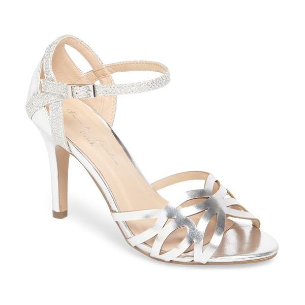 PARADOX LONDON PINK monica sandal in silver - Mirror-shine metallics and glittery straps dial up the...