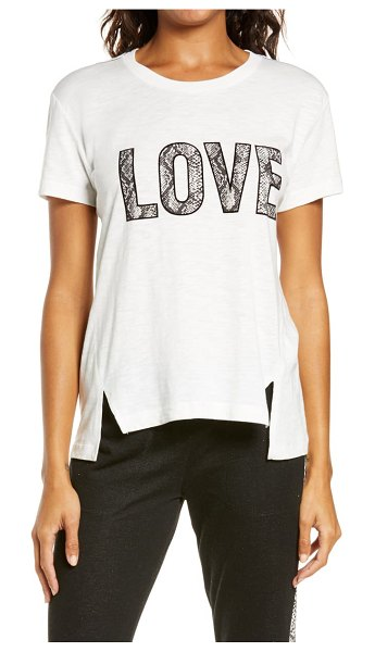PJ Salvage love graphic tee in ivory