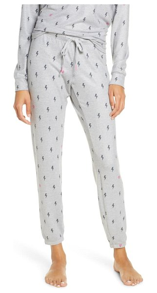 PJ Salvage peach party lounge pants in heather grey