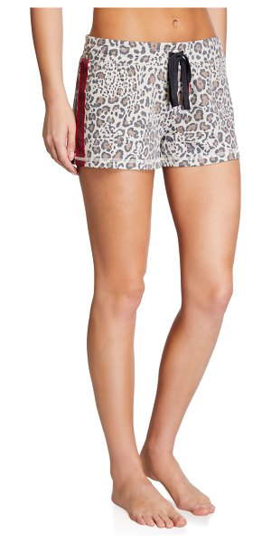 PJ Salvage Wild Heart Terry Cloth Shorts in cheetah