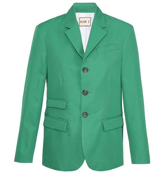 Plan C Blazer in emerald