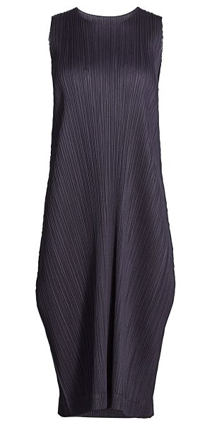Pleats Please Issey Miyake monthly colors august midi dress in charcoal