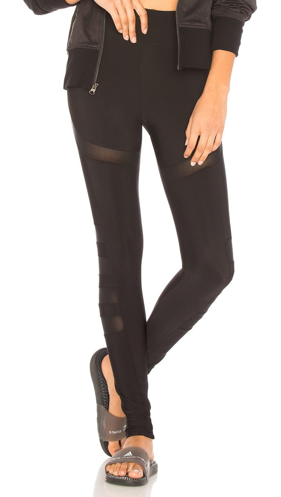 PLUSH Athletic Mesh Cutout Legging - Self: 85% poly 15% spandexContrast: 65% nylon 35% spandex....