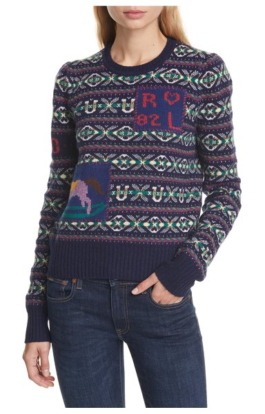 Polo Ralph Lauren fair isle wool & cashmere sweater in multi