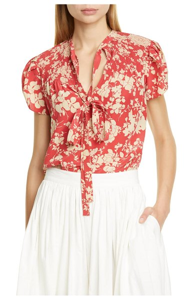 Polo Ralph Lauren floral blouse in red
