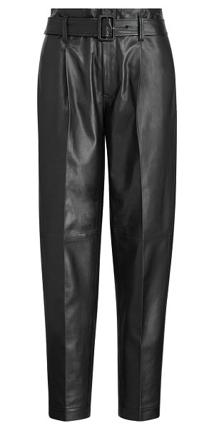 Polo Ralph Lauren leather paperbag pants in polo black