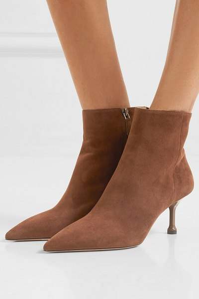 Prada 65 suede ankle boots in brown