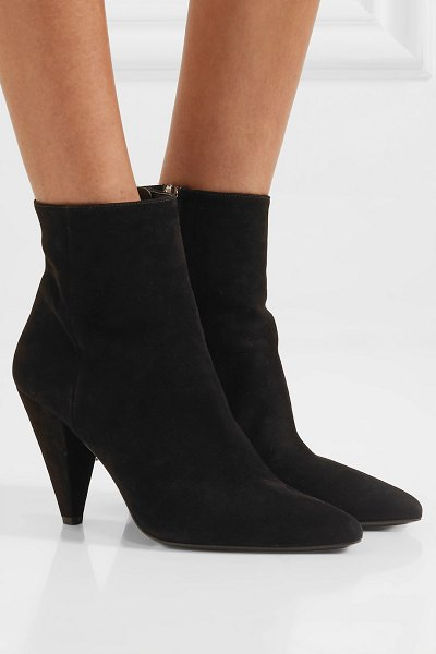 Prada 90 suede ankle boots in black