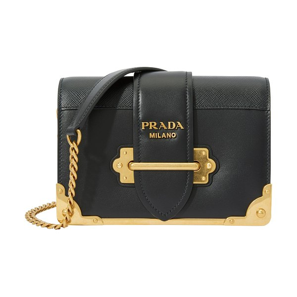 Prada Cahier Mini shoulder bag in black