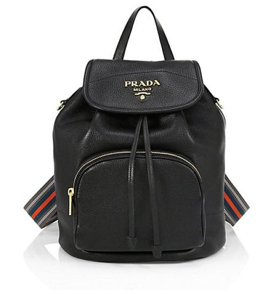 Prada daino backpack in black
