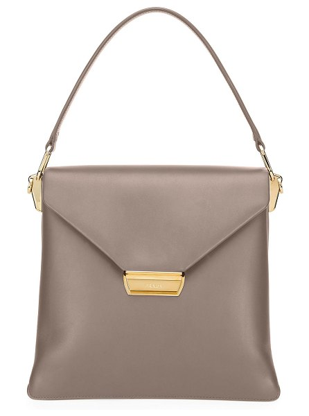 Prada Ingrid Smooth Leather Top-Handle Shoulder Bag in gray