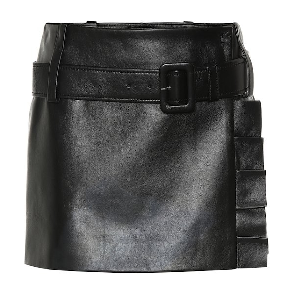 Prada Leather miniskirt in black - From the Prada Resort 2019 collection comes this nappa...