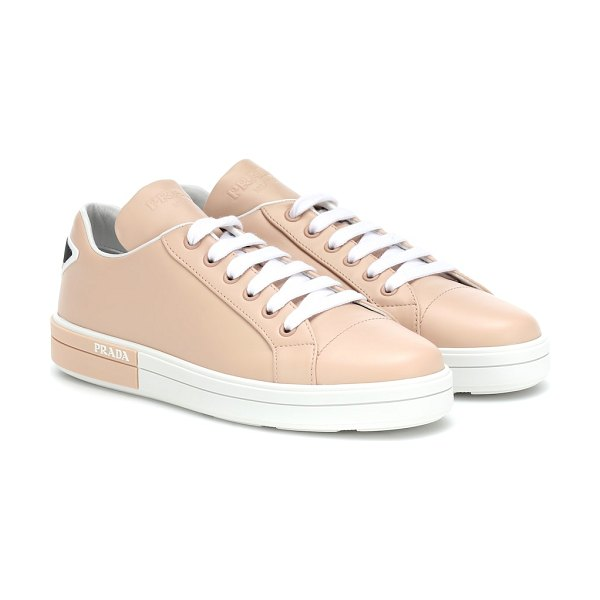 Prada leather sneakers in pink