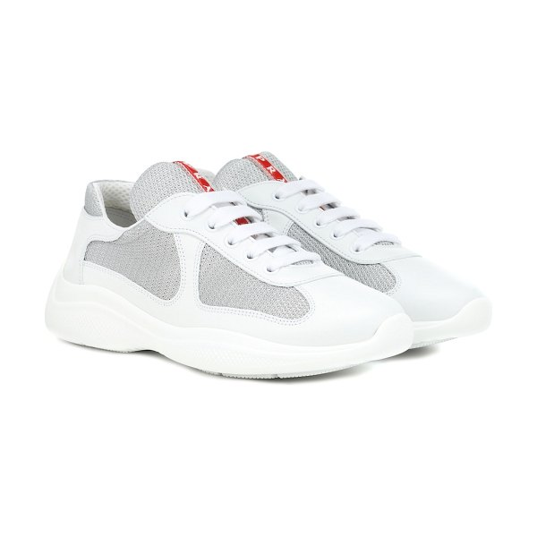 Prada leather sneakers in white