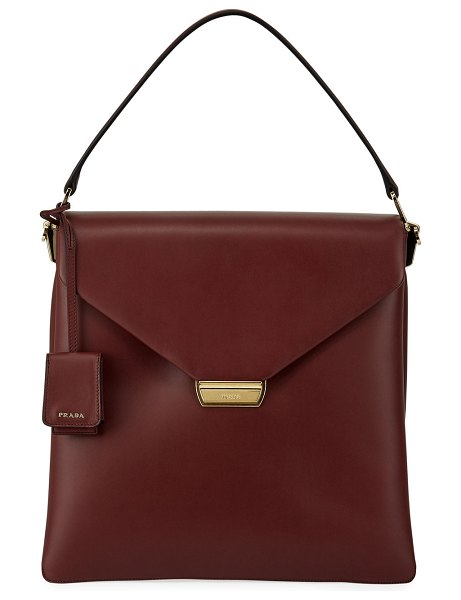 Prada Ingrid New Calf Double Gussets Top Handle Bag in red