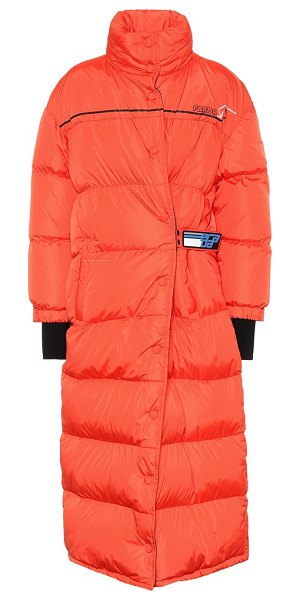 Prada puffer coat in red