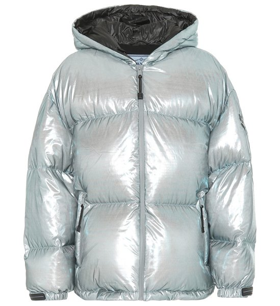 Prada puffer jacket in metallic