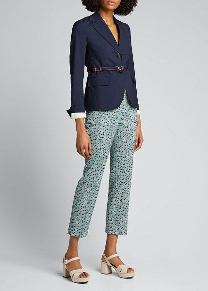 Prada Shrunken Suiting Blazer in navy