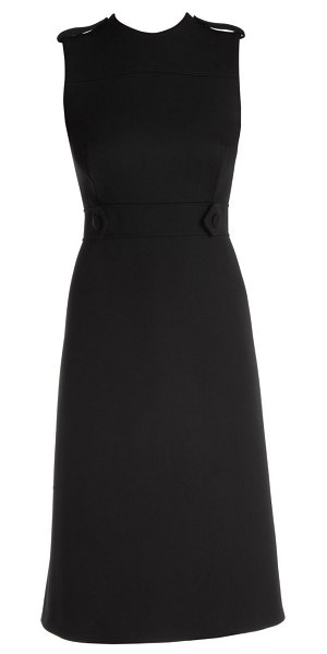 Prada sleeveless wool sheath dress in black