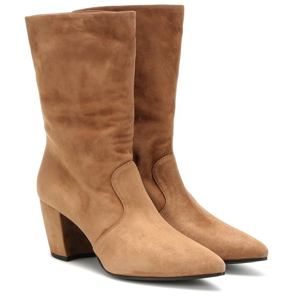 Prada suede ankle boots in beige