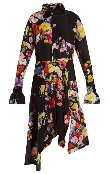 PREEN BY THORNTON BREGAZZI Nora floral-print silk dress - A quintessential Preen by Thornton Bregazzi creation the...