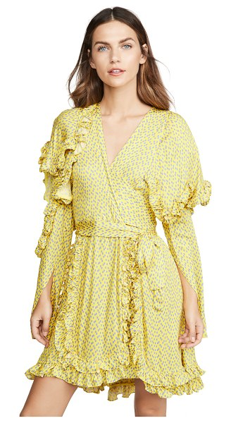 Preen by Thornton Bregazzi rylee dress in yellow tetris